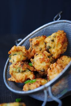 miced chicken fritters