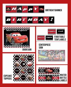 Items similar to Inspired Cars 2 Invitation- Complete Party Printable Collection-DIY on Etsy
