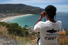 Cape Town's Shark Spotters, full time job at Fish Hoek, Muizenberg, St James and Noordhoek all year round. Most Beautiful Cities, Beautiful World, Shark Activities, African Image, Famous Beaches, Shark S, Cape Town South Africa, Surfing, City