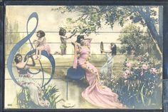 QM0054 SURREALISM FANTASY RANGE of NOTES LADIES CUPIDS ANGELS PHOTO MONTAGE