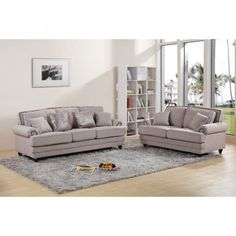 Chic My Room contemporary Nicole upholstered suite 3+2 sofa settee beige cream neutral comfortable living room  seating