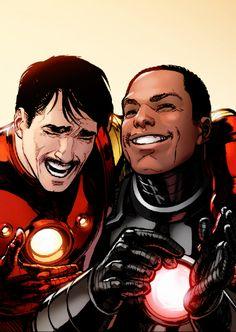 Tony and Rhodey - Marvel Universe Marvel Dc Comics, Marvel Heroes, Captain Marvel, Ms Marvel, Marvel Art, Mundo Marvel, Marvel Images, Spiderman Marvel, Captain America