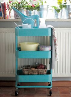 Another use for the popular RÅSKOG kitchen trolley as seen in Janina's home. | live from IKEA FAMILY LIVE
