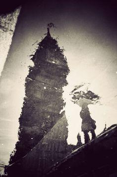 London Puddles Reflection by Gavin Hammond.
