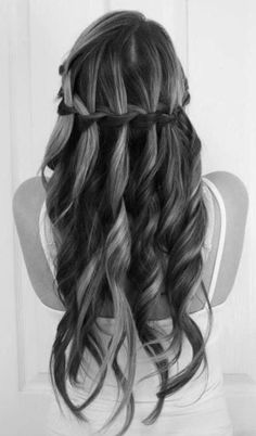 Cute Waterfall Braid Hair