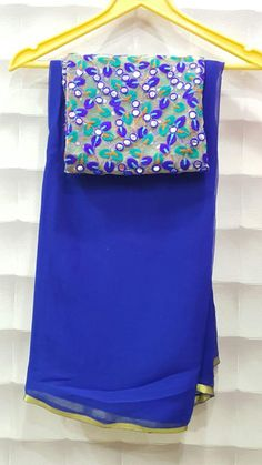 Pure wrinkle chiffon sarees with designer blouses | Buy Online Chiffon Sarees…