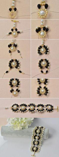 flower beaded bracelet, beautiful, right