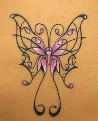 Feather Tattoo Designs: Feminine butterfly tattoos idea