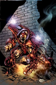 Iron Man by Mike Deodato Jr. Comic Book Characters, Marvel Characters, Comic Books Art, Comic Art, Marvel Movies, Book Art, Marvel Vs, Marvel Dc Comics, Marvel Heroes