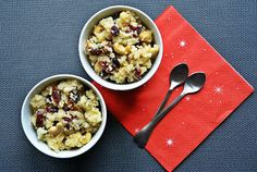 Couscous with nuts, dates, cranberries and sesame seeds