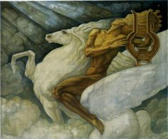 Jean Delville - Pegasus (1938)
