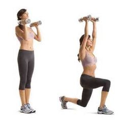 1A: Dumbbell Lunge to Overhead Press   Women's Health Magazine