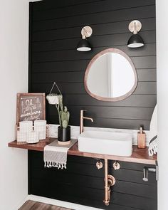 Before and After: An Outdated Condo's Budget Boho Remodel Remodeling Ideas in a Scandi Boho Dallas Condo Reno Boho Bathroom, Small Bathroom, Bathroom Ideas, Bathroom Bin, Bathroom Remodeling, Bathroom Cabinets, Shiplap In Bathroom, Turquoise Bathroom, Bathroom Black
