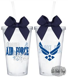Proud Air Force Wife 16 oz Acrylic Tumbler