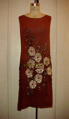 ART DECO 1920'S SILK FLAPPER DRESS w/ HEAVILY BEADED DECORATION, OUTSTANDING #Unbranded #FLAPPERDRESS #SpecialOccasion