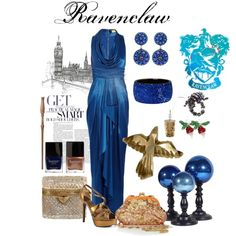 Oh my gosh gorgeous!!! Ravenclaw prom outfit. This makes the Potterhead part of me SO happy.