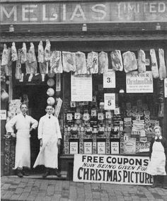 vintage everyday: 37 Interesting Photographs Capture People Standing in Front of Stores over 100 Years Ago