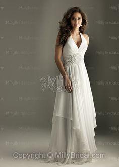 Sheath/Column Halter Ivory Crystals Ruched Chiffon Floor-length Evening Dress