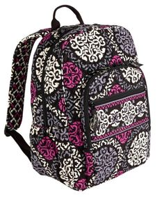 NWT VERA BRADLEY Canterberry Magenta  Campus Backpack Book school bag I have this backpack in petal paisly