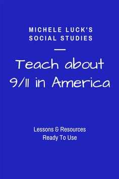 Set up your classroom into 6 Centers or  Response Groups to allow  students to collaboratively investigate the events of 9/11. This 44 page  activity set provides resource cards on the major event for students to  read, view, and discuss as they complete the student guide. Covers the  Basic Facts, Victims or Terrorism, Perpetrators - the Terrorists,  Effects of Terrorism in America, Timeline of Events, History Leading up  to 9/11.