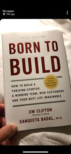 Born to Build Book Club Books, Book Nerd, My Books, Reading Lists, Book Lists, Inspirational Books To Read, Entrepreneur Books, Life Changing Books, Lectures