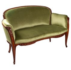 """Louis Majorelle French Art Nouveau """"Auberpines"""" Salon Suite   From a unique collection of antique and modern settees at http://www.1stdibs.com/furniture/seating/settees/"""