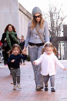 Meet Marion Loretta Elwell and Tabitha Hodge, the three-year-old twins of Sarah Jessica Parker and her husband Matthew Broderick.