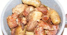 Retete culinare si preparate de sarbatori, reteta friptura pomana porcului cu vin si carnati, mancare, fripturi, gatit, traditional, bucatarie, gastronomie, mancaruri cu carne, fel de mancare, carnati la ceaun, friptura de porc, friptura la ceaun. Potatoes, Vegetables, Cooking, Food, Fine Dining, Kitchen, Potato, Essen, Vegetable Recipes