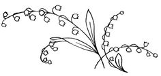 Embroidery Pattern of Lily-of-the-Valley-3 from QisforQuilter.com. jwt
