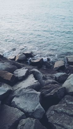 Nature Shore Rocky Stone Seaside #iPhone #6 #plus #wallpaper