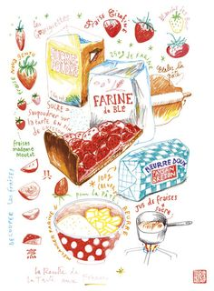 'The Strawberry Pie Recipe' print
