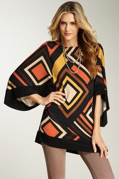 I want this! - Annalee & Hope  Boatneck Geometric Tunic