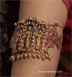 Vanki Designs Jewellery, Indian Jewellery Design, Jewelry Design Earrings, Designer Jewellery, Gold Temple Jewellery, Gold Jewelry, Antique Jewelry, Antique Silver, Jewlery
