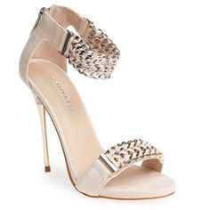 Carvela Kurt Geiger Blush 120Mm Garland Chained Faux Suede Sandals. Silver chain. Never worn! Brand new w/o box. European brand Carvela Kurt Geiger! SOLD OUT!!! I'm a true size 5.5 and was devastated when the shoe didn't fit! My loss is your gain!! Kurt Geiger Shoes Heels
