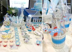 Airplane Baby Shower Dessert table | Thomas comes on the Way!!! Baby Shower « Bella Paris Designs