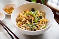 Recipe: Spicy ginger pork noodles with bok choy || Photo: Evan Sung for The New York Times