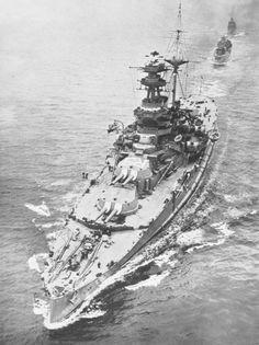 HMS Royal Sovereign - Revenge class battleship of the British Royal Navy.