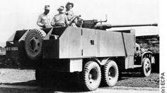 Armored GMC truch with 40 mm Bofors gun - French Indochina war