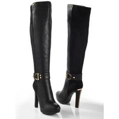 Shop Women's venus Black size Heeled Boots at a discounted price at Poshmark. Description: Black boots brand new by Venus price firm. Sold by Fast delivery, full service customer support. Thigh High Platform Boots, Thigh High Boots Heels, Shoes Heels Boots, Heeled Boots, Bootie Boots, Shoes Sandals, Cute Boots, Sexy Boots, Black Boots