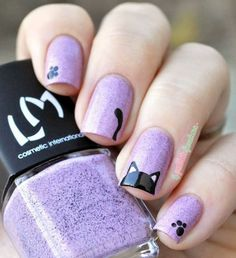 Top 32 Chic Black Cat Manicure Nails To Try Pretty And Modern Black Cat Nail Art Designs Ideas Cat appearance lovely and cute. sometimes folks like to have cats as their pets, i personally own a stunning cat and she or he is de facto keen on Cat Nail Art, Animal Nail Art, Cat Nails, Nail Art Diy, Nail Art Ideas, Kawaii Nail Art, Animal Fun, Cat Nail Designs, Simple Nail Art Designs