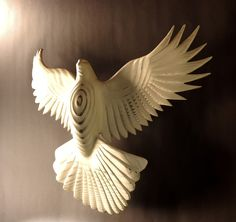 Peace Dove wood carving by Jason Tennant, Wall sculpture, holiday, hope, inspirational