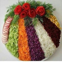 Cum sa decorezi salata de boeuf anul acesta – Idei spectaculoase Check more at w… How to Decorate Beef Salad This Year – Spectacular Ideas Check more at www. Deco Fruit, Meat Trays, Fruit Trays, Party Food Platters, Creative Food Art, Beef Salad, Food Salad, Food Carving, Food Garnishes
