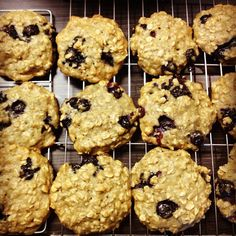 Banana Oatmeal Blueberry Cookies...these are so delicious!!
