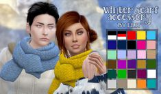 Sims 4 CC's - The Best: Winter scarf accessory by Lilit's Creative World
