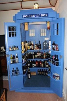 Tardis liquor cabinet! Chris would love to have this next to his imaginary pool table!