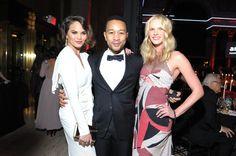 Chrissy Teigen, John Legend, and Anne V. amfAR New York Gala To Kick Off Fall 2013 Fashion Week - Inside