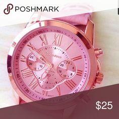 😍😍 SUNDAY SALE 😍😍Pink Stylish watch New Accessories Watches