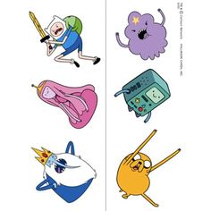 Adventure Time Temporary Tattoos -- Check out the image by visiting the link. (This is an affiliate link)