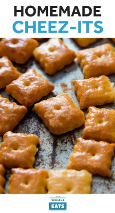 These Cheez-It clones are a little darker than the originals because we make them with cream instead of butter—don't worry, the rich, nutty flavor is worth the less-than-authentic color. Sharp yellow cheddar gets you closest to the classic Cheez-It taste, but manchego is a fun alternative.