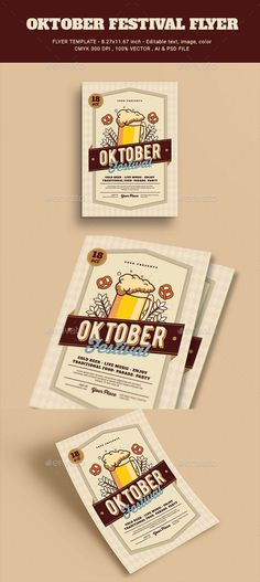 October Festival Flyer — Photoshop PSD #pub #event • Available here ➝ https://graphicriver.net/item/october-festival-flyer/20625675?ref=pxcr